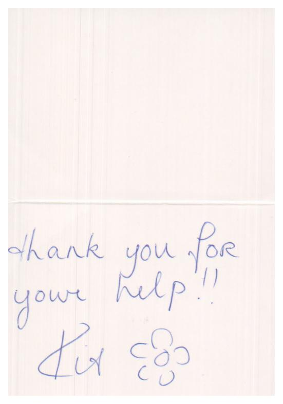 Dr Mathew Tung Thank You Card